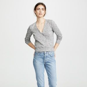 MADEWELL | Wrap-Front Pullover Sweater